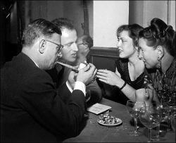 Jean-Paul Sartre, Boris Vian, Michelle Vian, Simone de Beauvoir